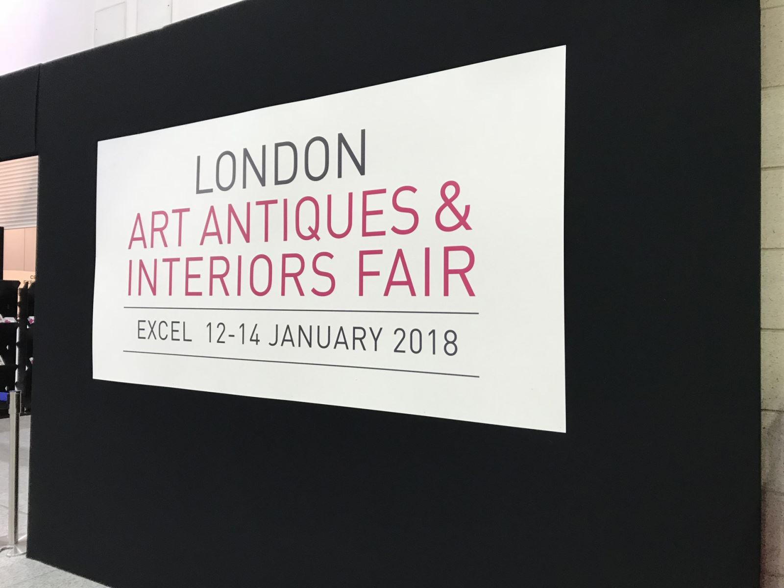Last week I had chance to visit London Art Antiques & Interior Fair at Excel. It was held between 12-14 January 2018. There was 60 dealers and 1 cafe inside.  In order to visit Excel London it is easy to get DLR underground there are too many fairs inside. Check their websites.  https://www.excel.london/visitor/getting-here/rail