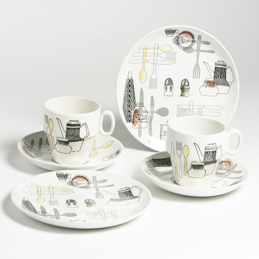 Barker Bros Cups & Saucers with Plates