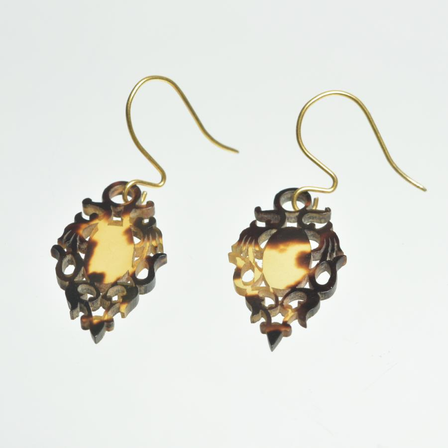1900s Tortoiseshell Earrings