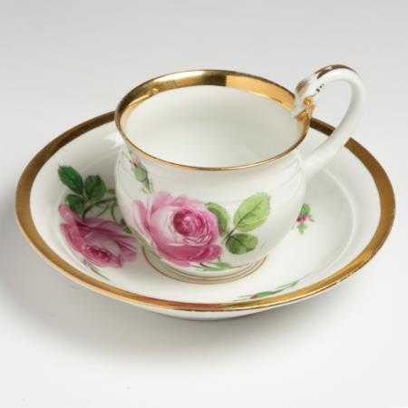 19th Century Meissen Coffee Cup & Saucer