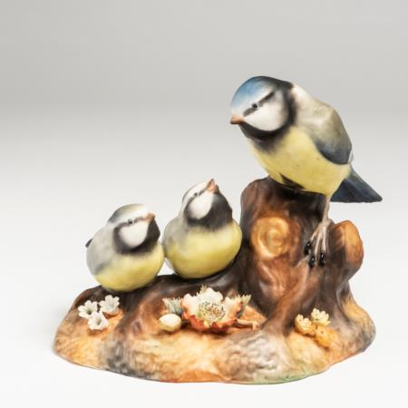 Royal Crown Derby Blue Tit & Chicks c1976